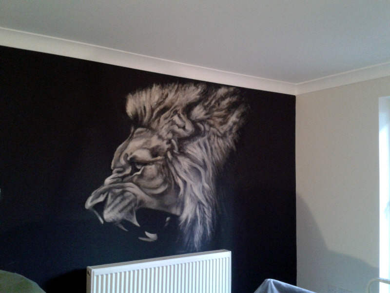 lions mural