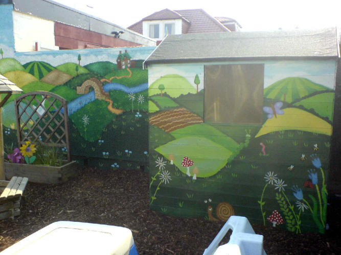 chapter one nursery mural